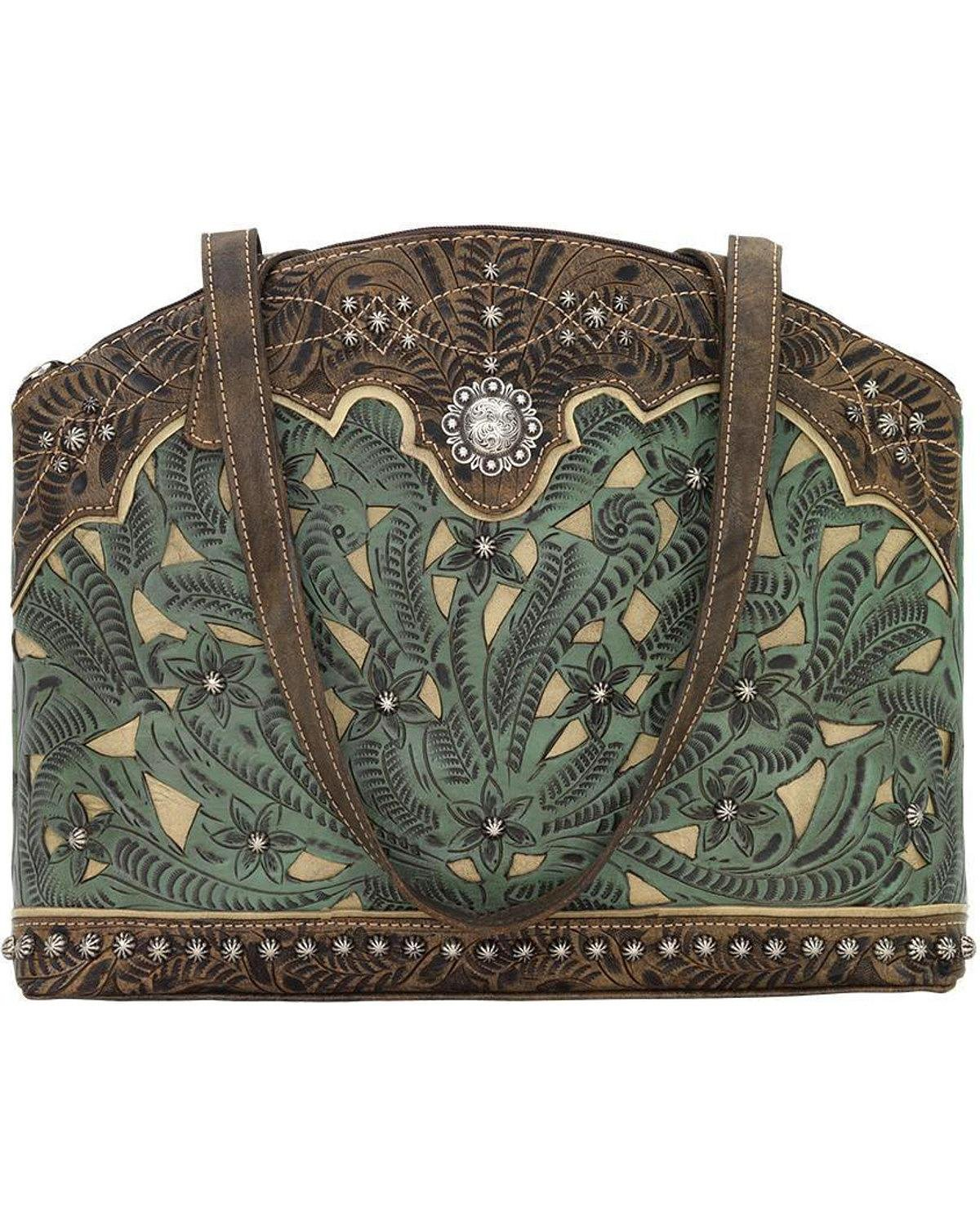 American West Women's Annie's Conceal Carry Half Moon Purse Turquoise One Size