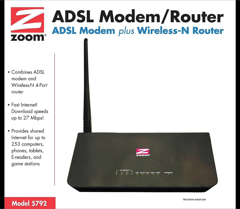Amazon.com: Zoom Telephonics ADSL WiFi Modem/Router with 4 ...