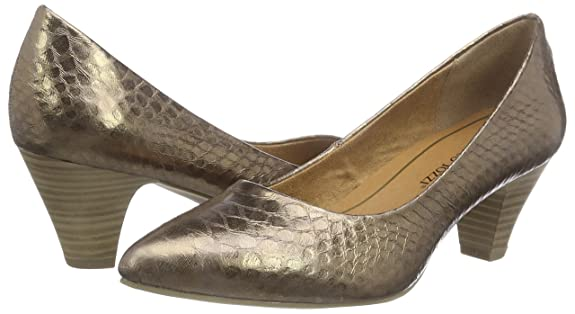 22404, Zapatos de Tacón Mujer, Marrón (Bronce 900), 37 EU Marco Tozzi