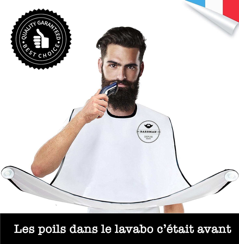 BARBMAN : Le bavoir pour se raser la barbe sans laisser de poils, cadeau ideal pour hipster barbu