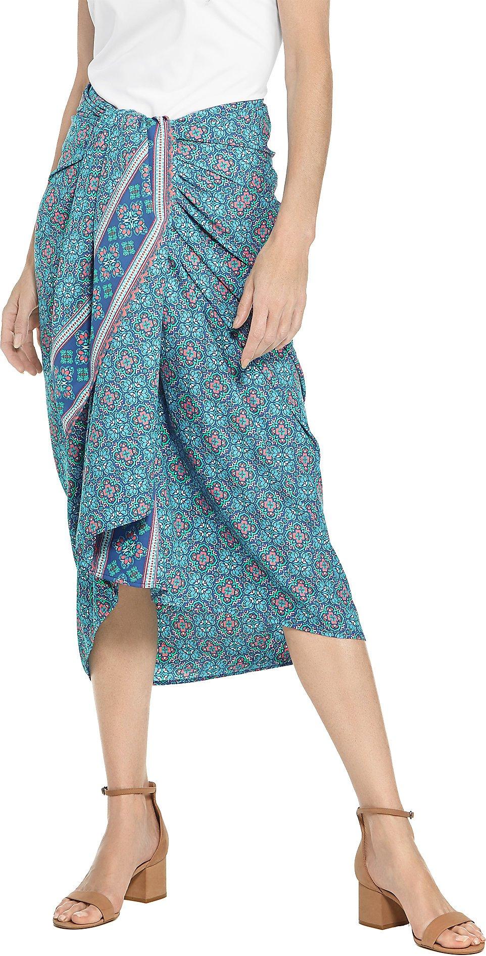 Coolibar UPF 50+ Women's Pareo - Sun Protective (Small/Medium- Blue Spanish Mosaic)