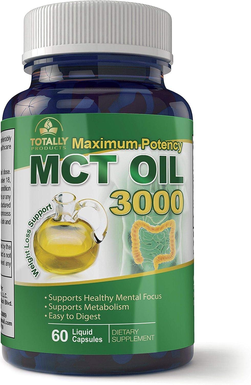 Totally Natural Remedies Maximum Potency MCT Oil Capsules