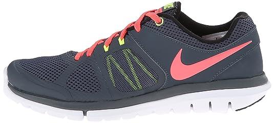 Nike Wmns Flex 2014 RN - Zapatillas para Mujer, Color dk MGNT Grey/hypr pnch/blk/vlt, Talla 38: Amazon.es: Zapatos y complementos