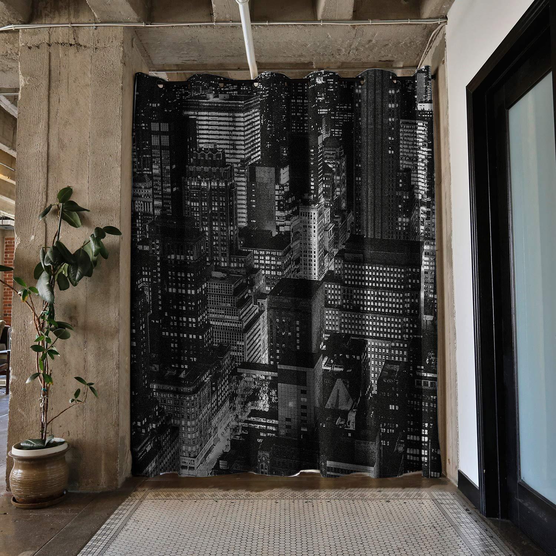 RoomDividersNow プレミアム ヘビーウェイト テンション ロッド ルームディバイダーキット - スペース2フィート 4インチ - 12フィート 6インチ 幅 Large B - 9ft Tall, 6ft 8in to 9ft 6in Wide イエロー PBKLGN9-TR B07HNZCVPZ The City Lights Large B - 9ft Tall, 6ft 8in to 9ft 6in Wide