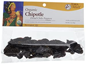 Terra Dolce Organic Chipotle Chiles, 2 Ounce