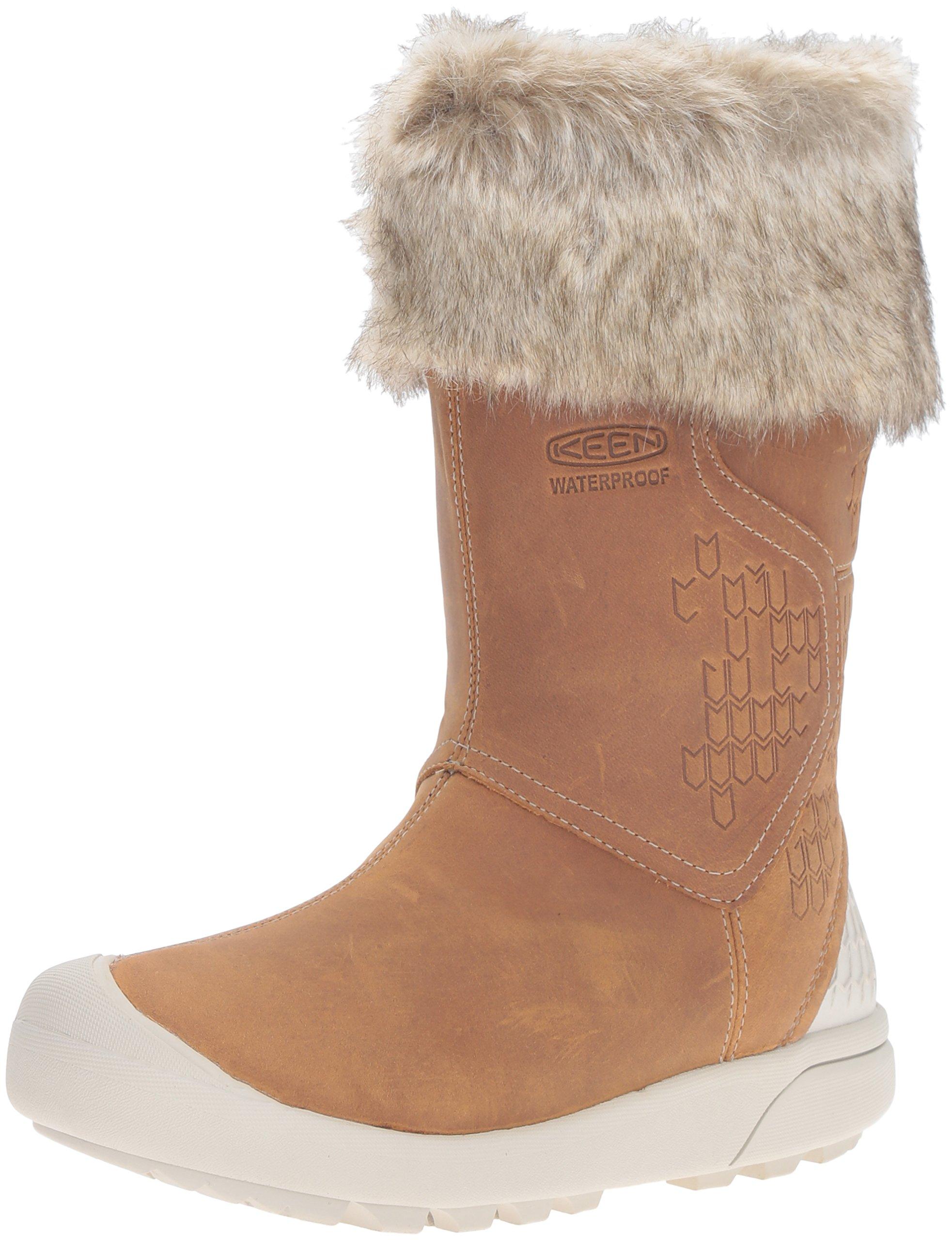 KEEN Women's Fremont Zip Waterproof Shoe, Cookie Dough, 9 M US