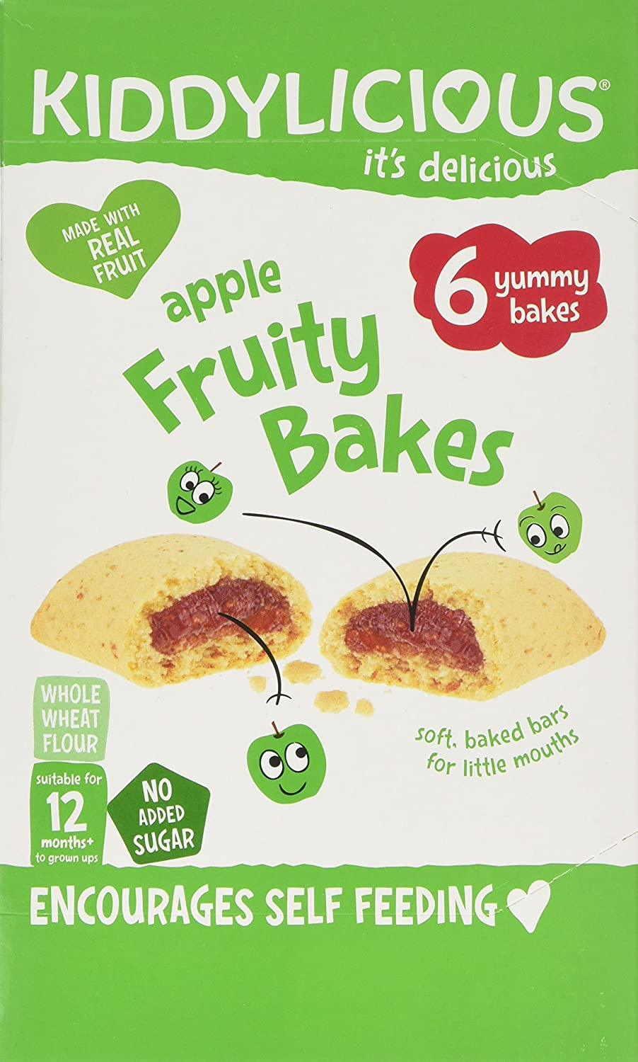 Kiddylicious Bakes Apple Fruity, 132 g, Pack of 8 The Kids Food Co. 1080150