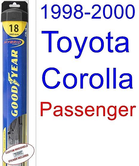 1998 – 2000 Toyota Corolla VE hoja de limpiaparabrisas de repuesto Set/Kit (Goodyear