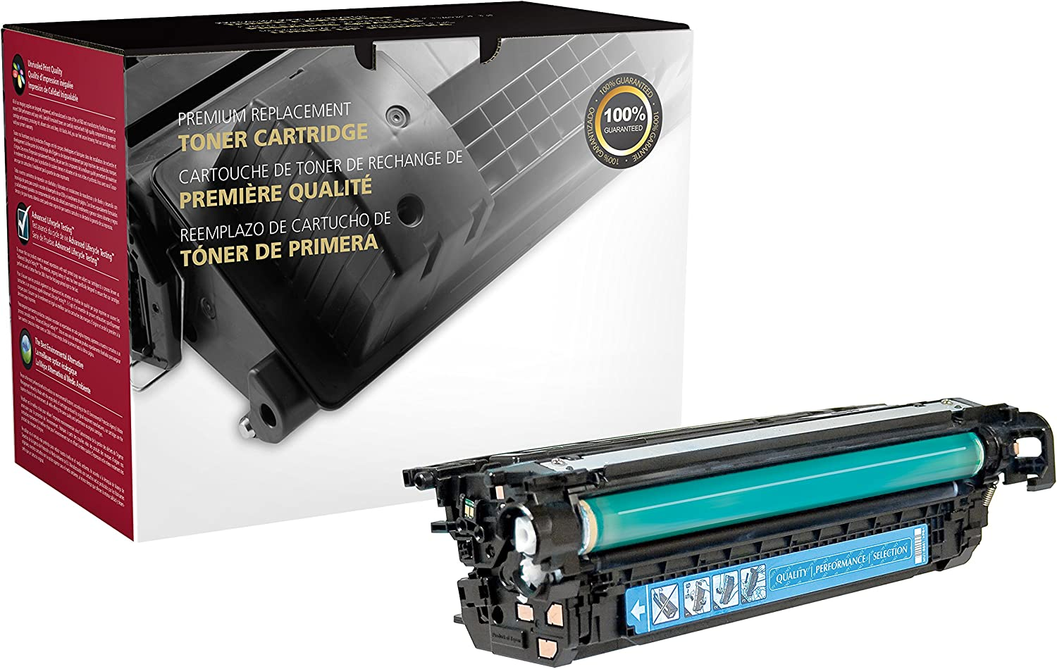 Inksters Remanufactured Toner Cartridge Replacement for HP CP4025 / CP4525 Cyan CE261A (HP 648A) 11K Pages