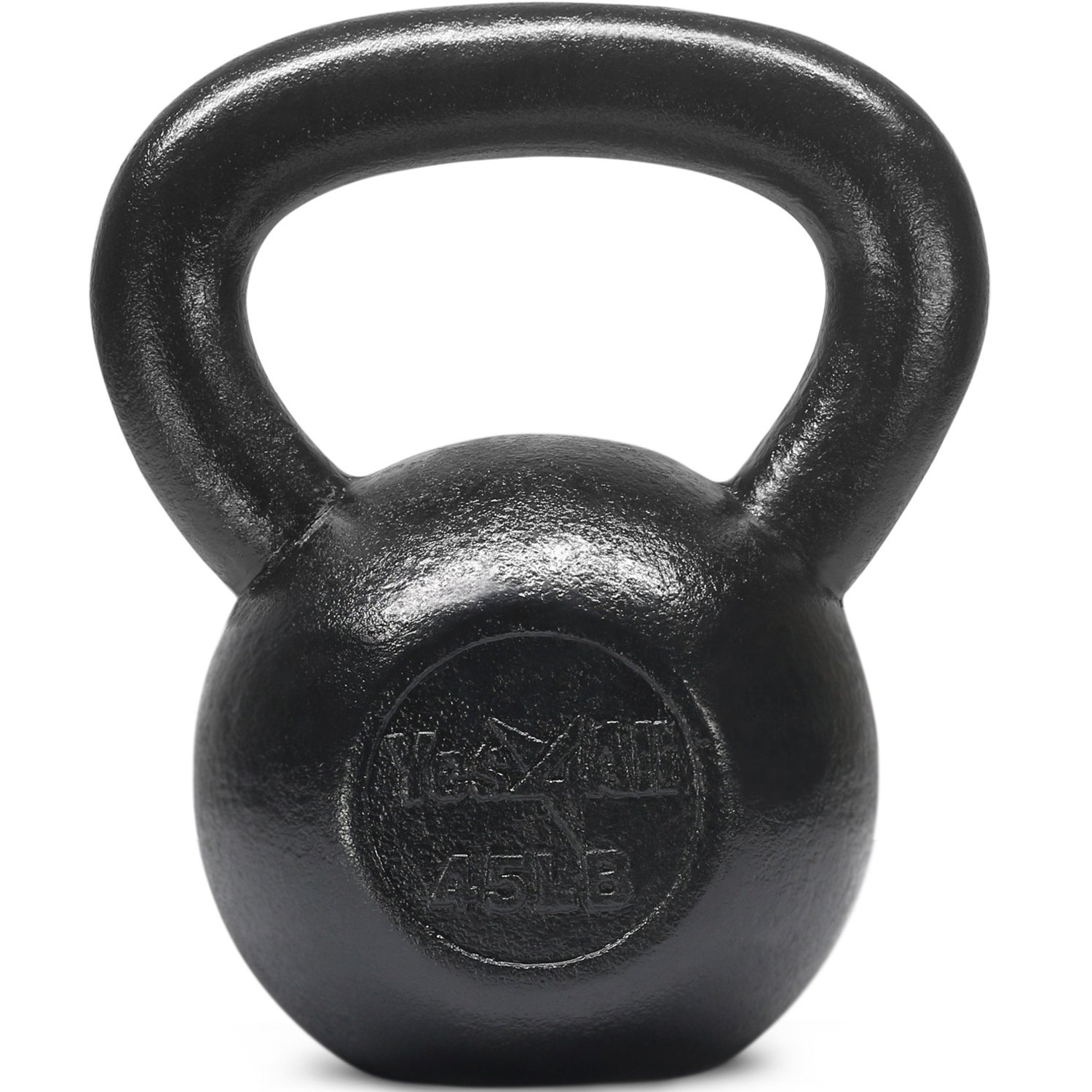 Yes4All Solid Cast Iron Kettlebells – Weight Available: 5, 10, 15, 20, 25 to 80 lbs (L - Black 45lb)