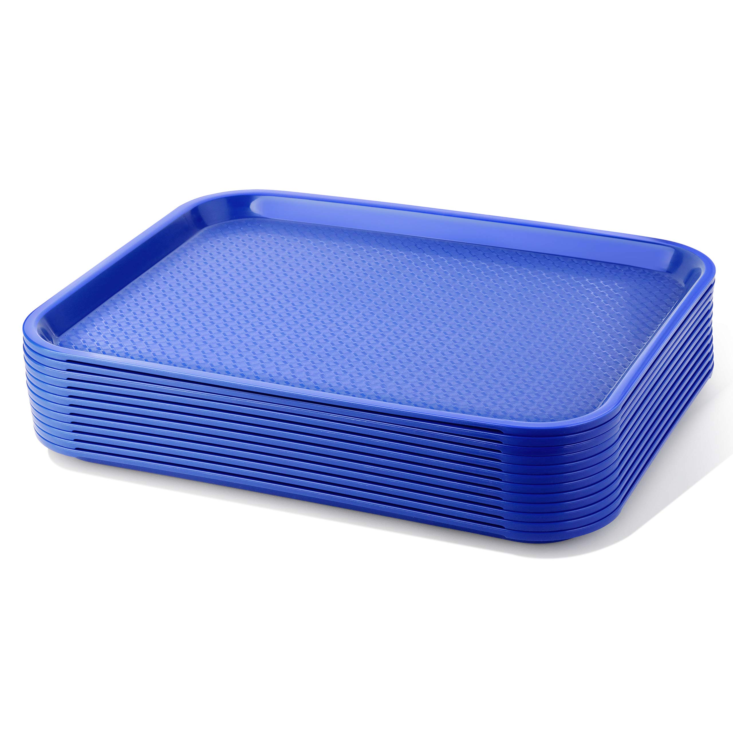 New Star Foodservice 24722 Fast Food Tray, 14 by 18-Inch, Blue, Set of 12