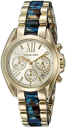 c0ec4e76ffb5 Amazon.com  Michael Kors Women s Mini Bradshaw Gold-Tone Watch ...