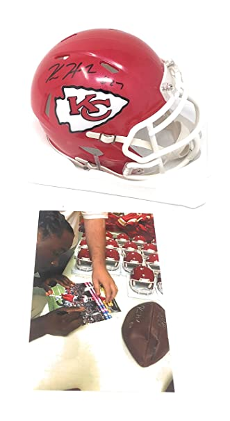 Amazon.com  Kareem Hunt Kansas City Chiefs Signed Autograph Speed Mini  Helmet Hunt Player Hologram Certified  Sports Collectibles ae5205a3f