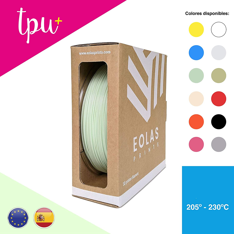 EOLAS Filamento flexible 3D 100% TPU+, Made in Spain, Food safe ...