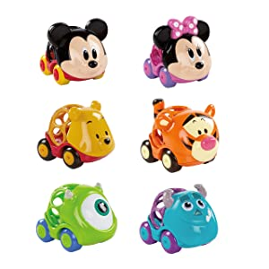 Bright Starts Disney Baby Go Grippers Collection Push Cars from Oball, Ages 12 Months +