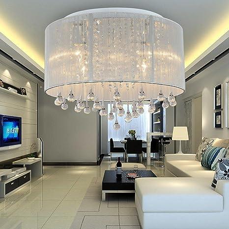 Lámpara de techo cristal moderna simple y elegante de 6 ...