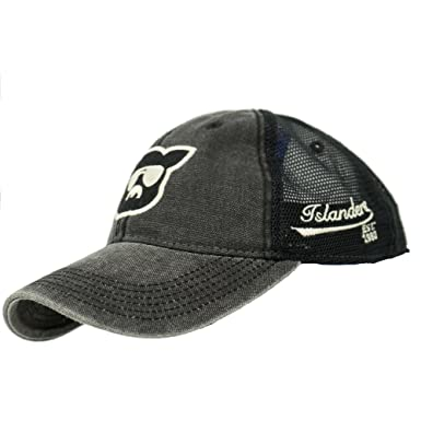 3a86e6c1 Amazon.com: Islanders Pig Face Old Favorite Trucker Hat, Black/Black ...