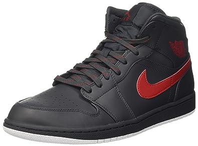 newest collection 2c50b 13e47 Nike Herren Air Jordan 1 Mid Anthrazit LederKunstlederTextil Sneaker 47.5