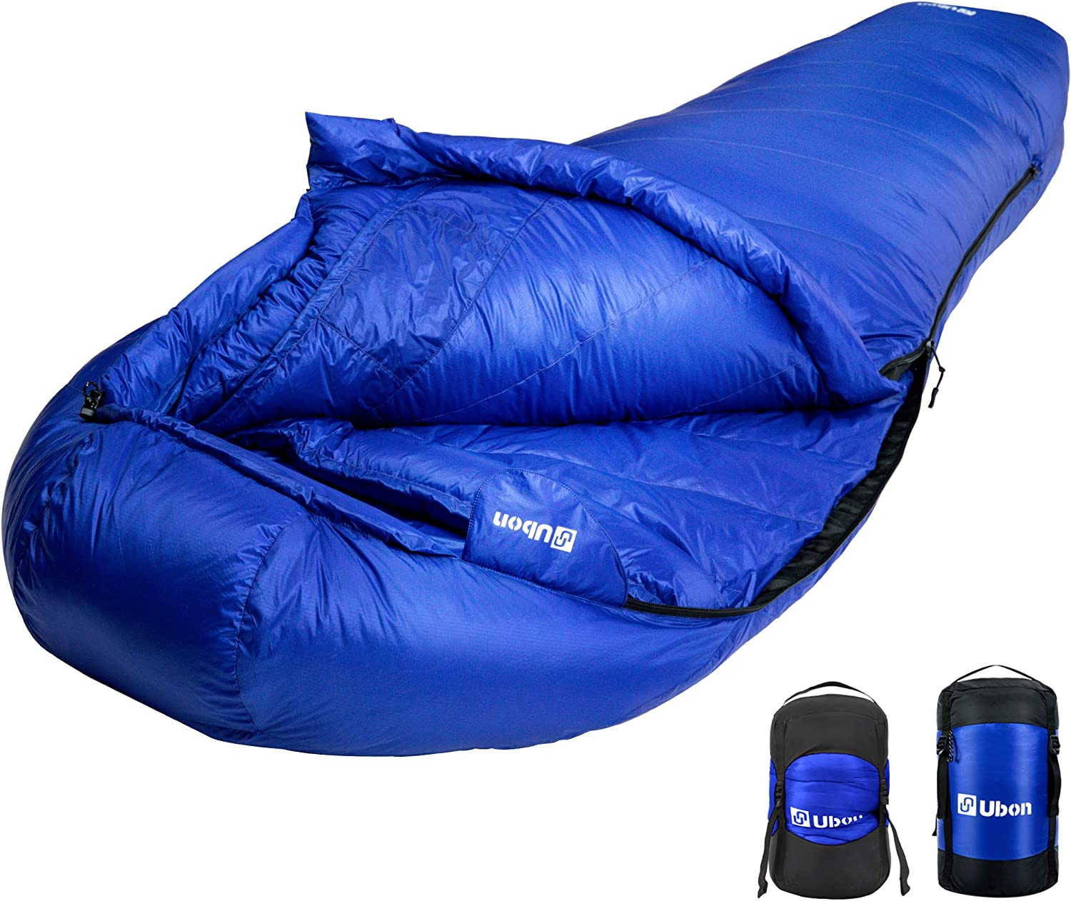 Ultralight Camping Sleeping Bag Ubon Extreme 10 Degree F 650 Fill Power Down Sleeping Bag Waterproof Mummy Sleeping Bag for Adults
