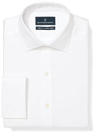 detailed look e1412 fe983 Marchio Amazon - Buttoned Down, camicia da uomo, vestibilità su misura, con  polsino francese, in cotone Supima, non necessita di stiratura, con ...