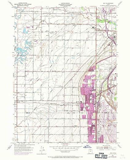 Amazon Com Yellowmaps Roy Ut Topo Map 1 24000 Scale 7 5 X 7 5