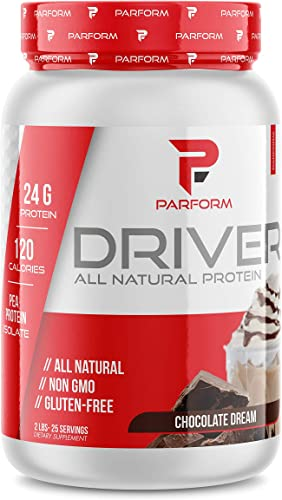 Parform Driver All Natural Pea Protein Gluten Free and Non GMO 24G of Protein 2lbs Chocolate Dream