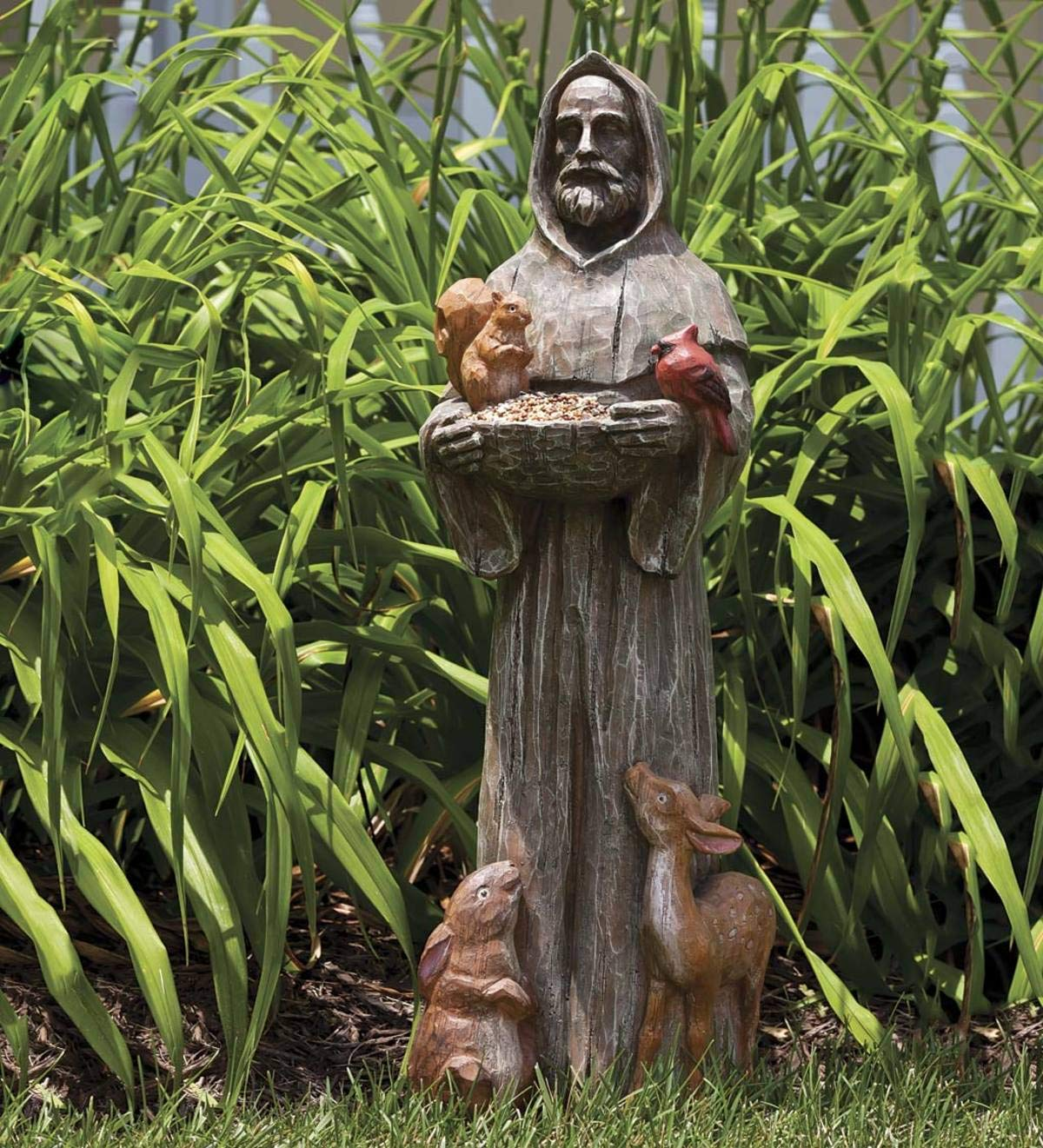 Plow & Hearth St. Francis and Friends Resin Garden Statue - 9.75 Dia x 32.5 H by Plow & Hearth (Image #1)