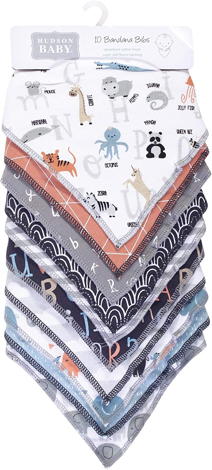 Hudson baby unisex-baby Cotton Bib and Sock Set Bandana
