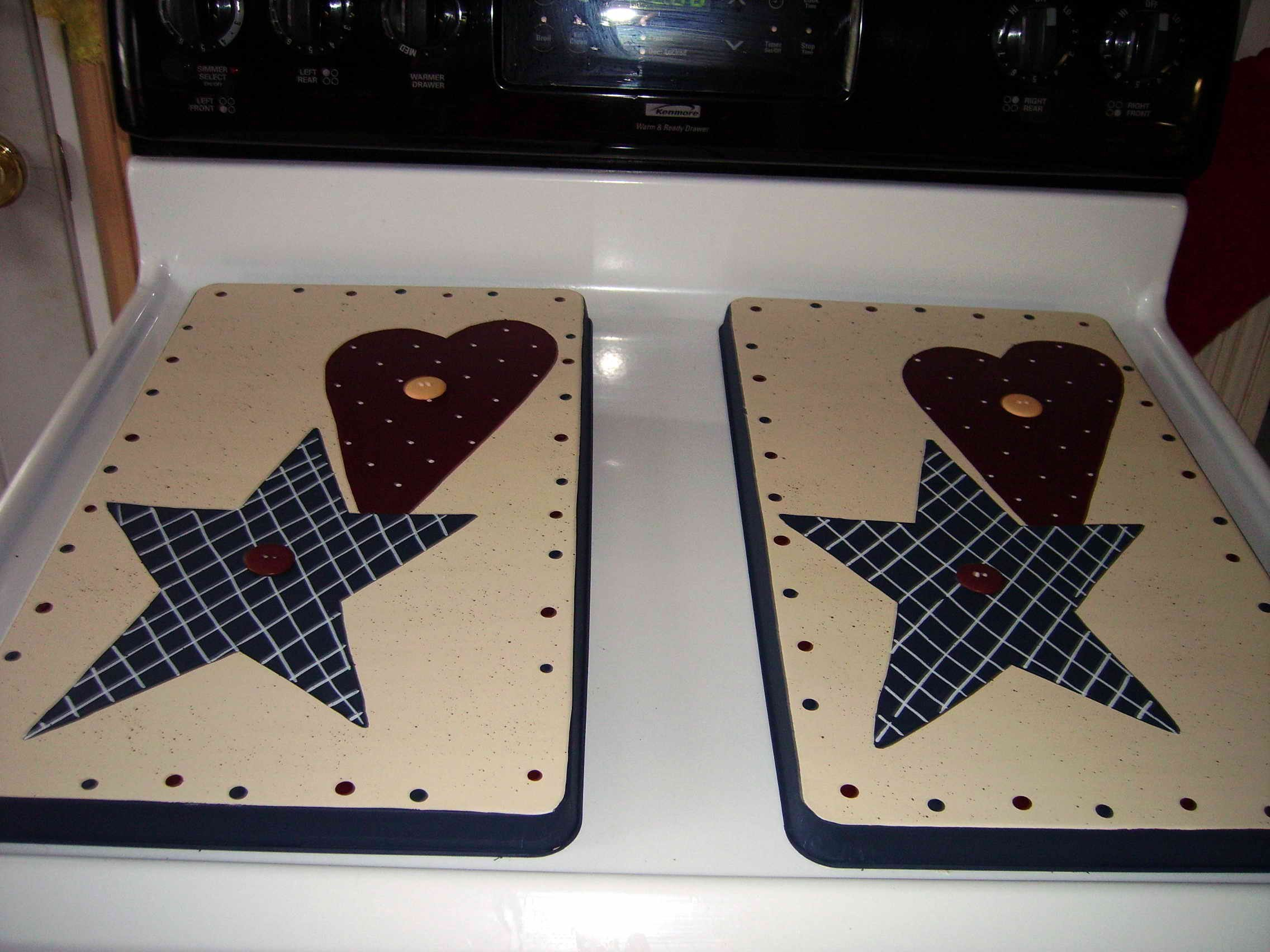 Americana Stove Burner Covers Set by Primitive Country Loft House