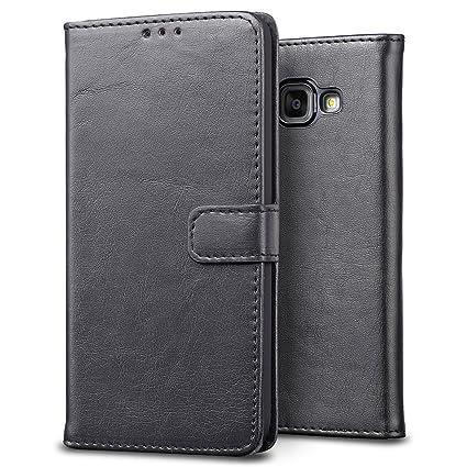 SLEO Funda para Samsung Galaxy A3 2016 Cover, Cartera Carcasa Piel Plegable Cubierta del Tirón Estilo Retro PU con Ranuras de Tarjetas para Samsung ...