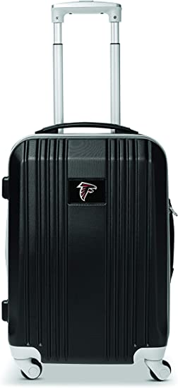 Denco NFL Atlanta Falcons Round-Tripper Two-Tone Hardcase Luggage Spinner