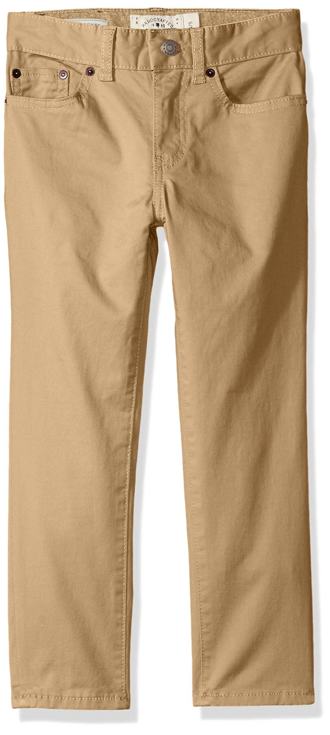 Lucky Brand Little Boys' 5 Pocket Stretch Twill Pant, kelp, 7