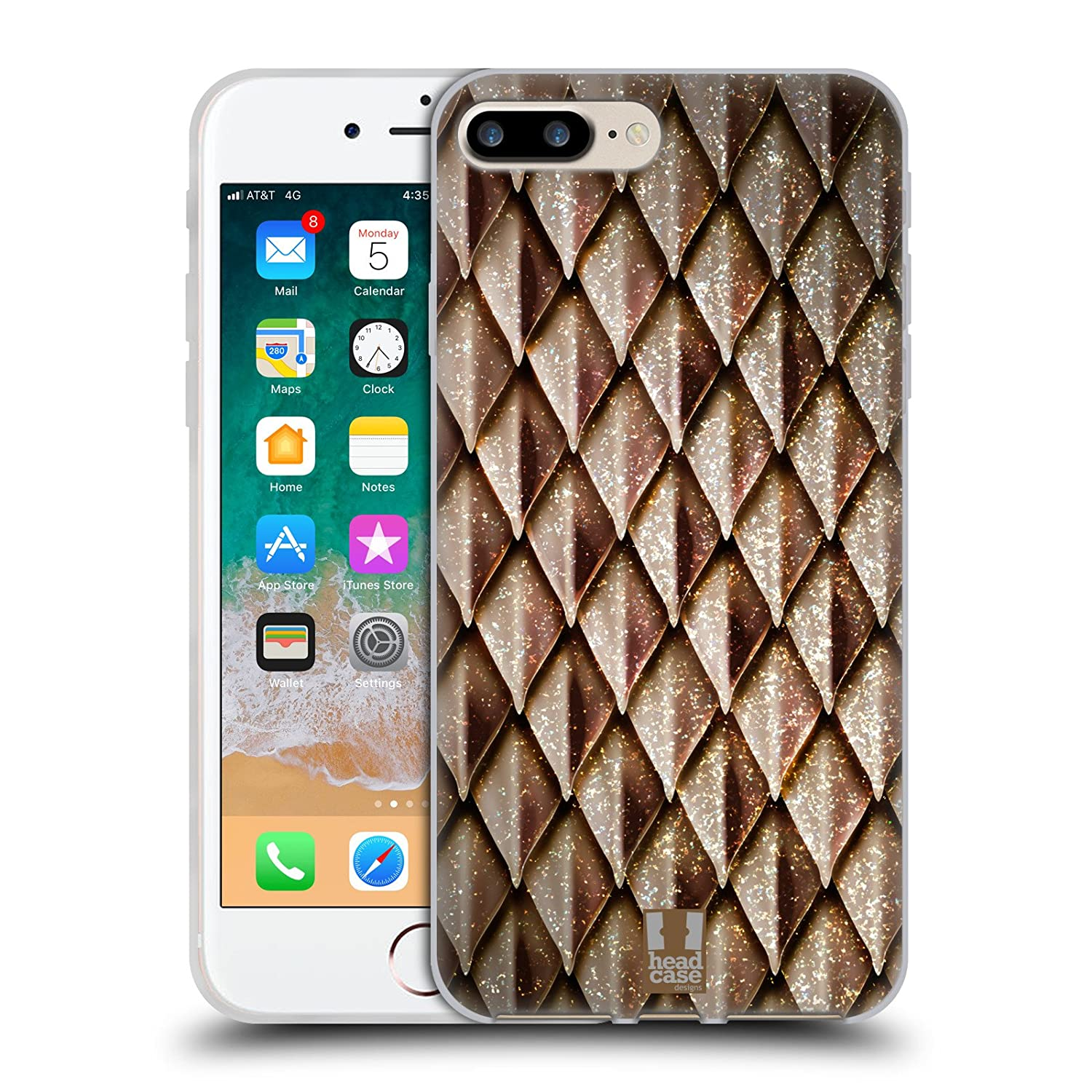 Head Case Designs Black And Red Metallic Dragon Scales Soft Gel Case Compatible for iPhone 6 Plus//iPhone 6s Plus