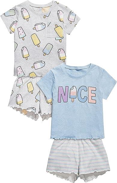 next Niñas Pack De Dos Pijamas Cortos De Polos (3-16 Años) Estándar: Amazon.es: Ropa y accesorios