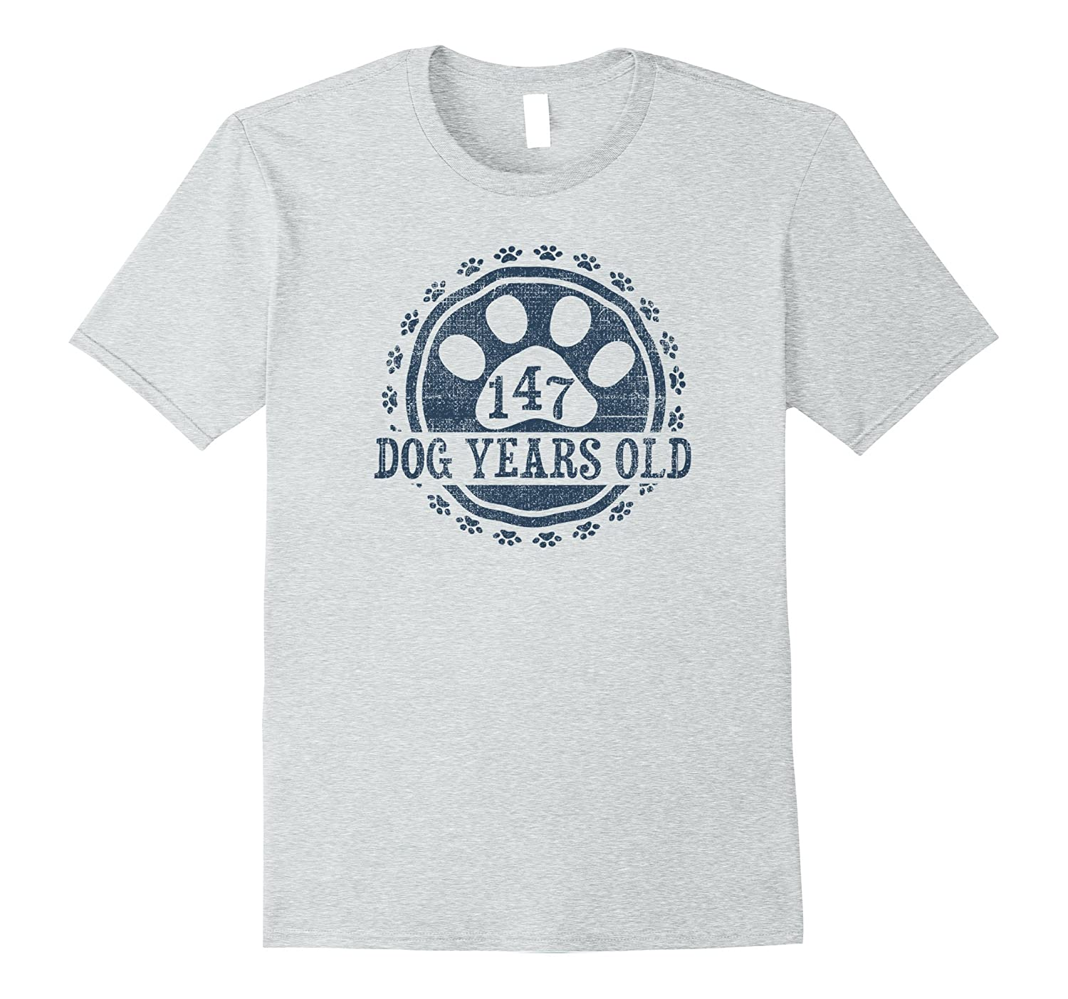 147 Dog Years Old 21 Human Yrs Old 21st Birthday Gift Shirt-AZP