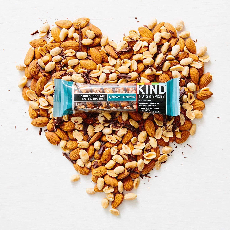 Bars, Dark Chocolate Nuts & Sea Salt, Gluten Free, Low Sugar, 1.4oz, 24 Count by KIND (Image #6)
