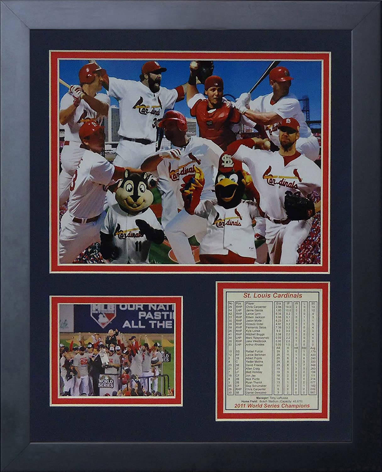 2011 St - Collage Inc Louis Cardinals 11 x 14 Framed Photo Collage by Legends Never Die