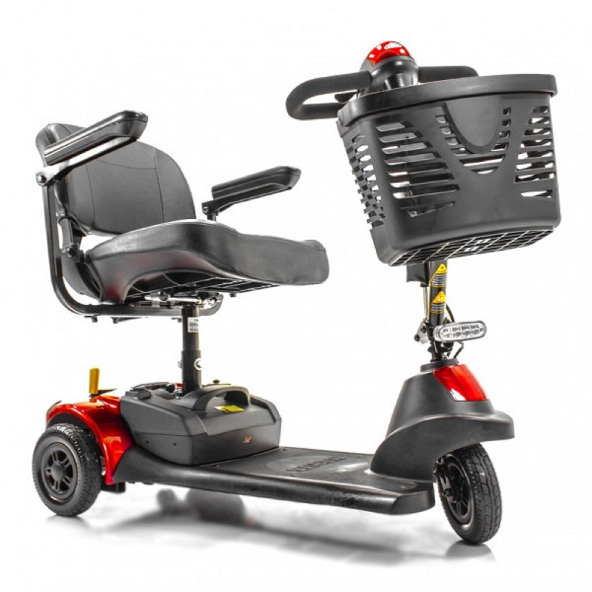 Merits Health Products - Roadster Deluxe - 3-Wheel Scooter - 18''W x 15''D - Red - PHILLIPS POWER PACKAGE TM - TO $500 VALUE by ROADSTER (Image #3)