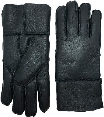 Véritable qualité premium femmes filles cuir fashion fourrure gants de conduite chaud
