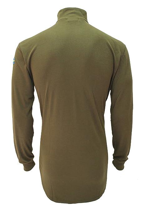 Camiseta térmica, de manga larga y cuello con cremallera, para hombre. CoolMax de Dupont. Estilo sueco 20065: Amazon.es: Ropa y accesorios
