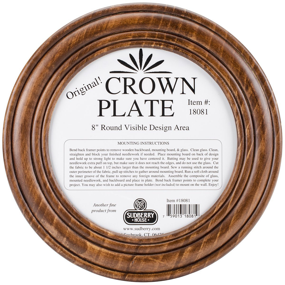 Sudberry House Crown Round Plate, 11.5'', Mahogany by Sudberry House