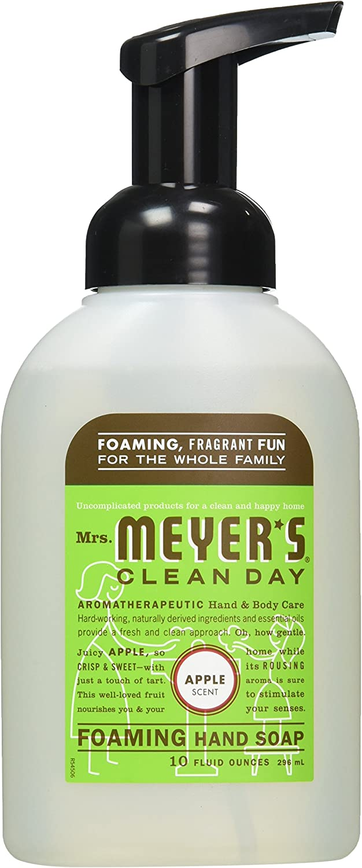 Mrs Meyers Clean Day Apple Foaming Hand Soap, 10 Fluid Ounce - 6 per case.