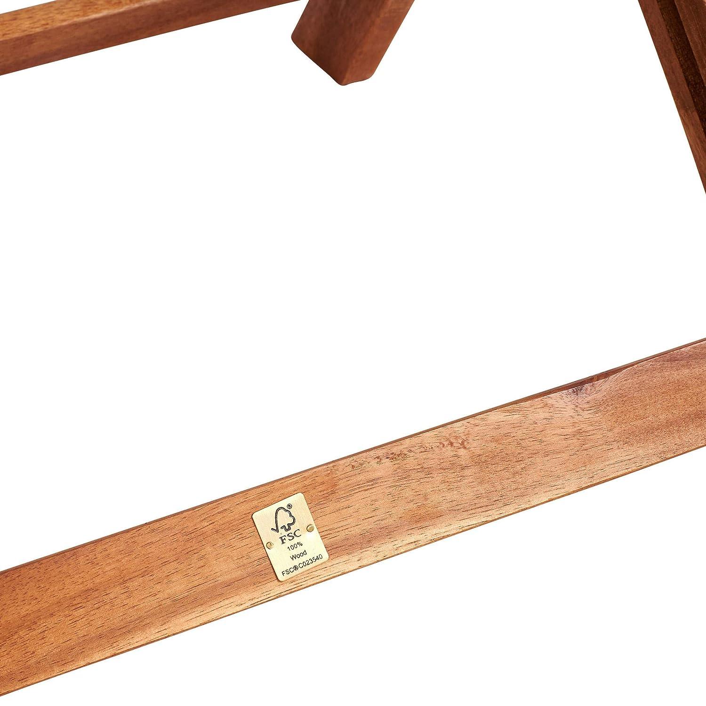Balkonstuhl Klappbarer Gartenstuhl aus FSC-Akazienholz BUTLERS Somerset Klappstuhl f/ür Garten 49,5x63x90 cm in Braun