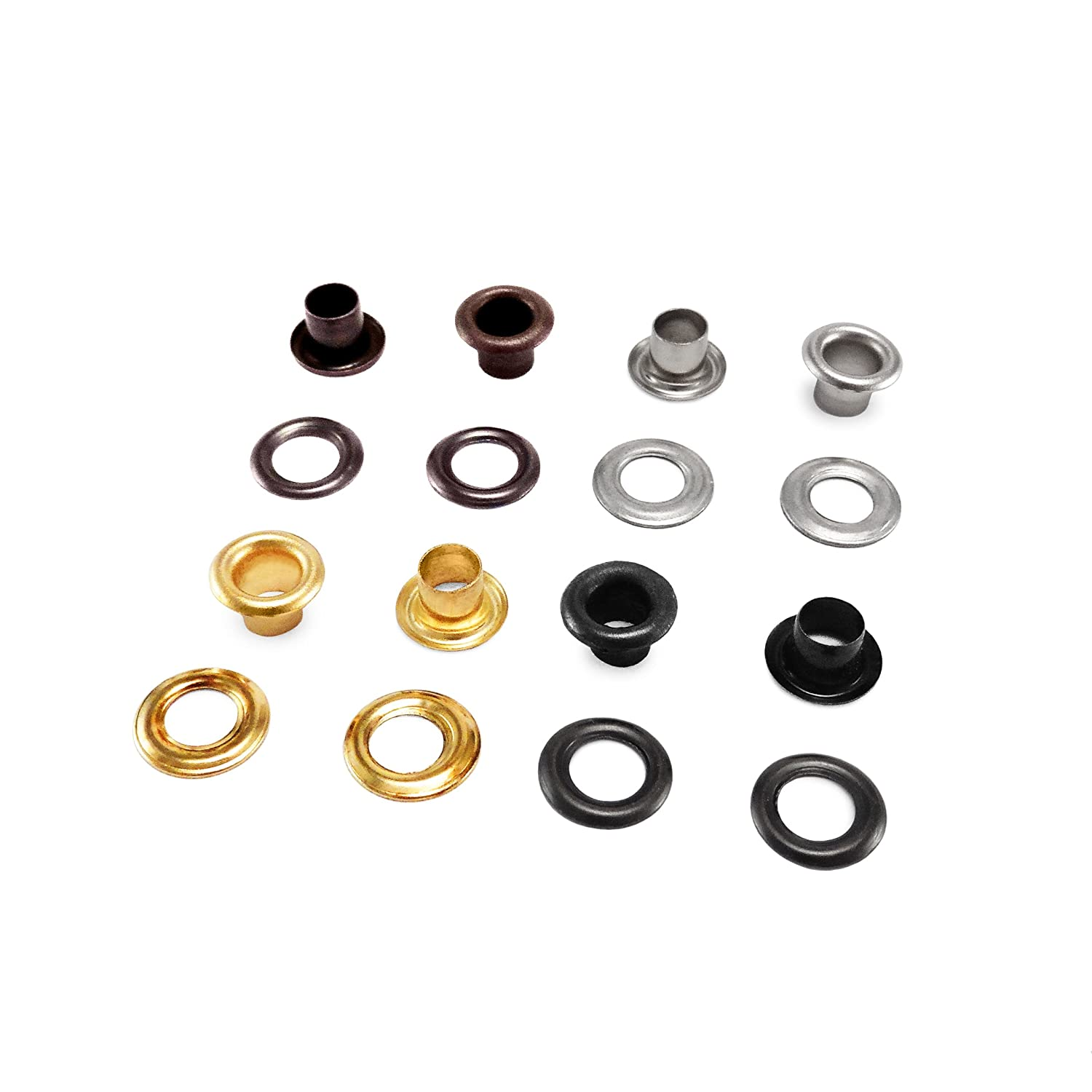 100 - Eyelet and washers for Leather Craft Grommet Banner ANV 5mm - gold hebar-ltd
