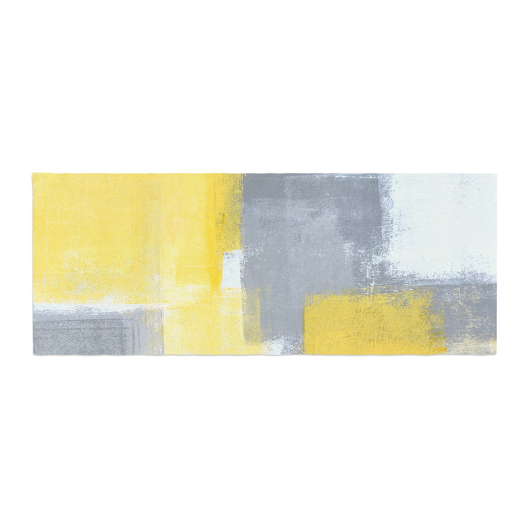 Kess InHouse CarolLynn Tice Steady Yellow Gray Bed Runner, 34'' x 86''