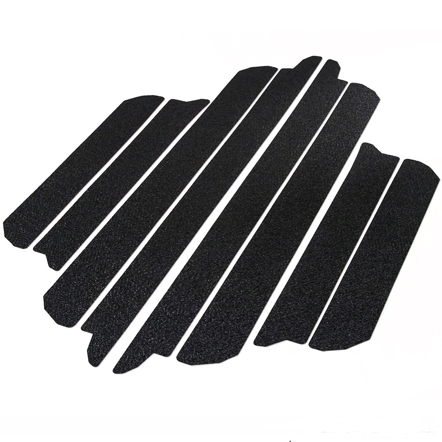 T-Foot 8pc Door Sill Step Protector For 2009-2018 Dodge Ram 1500 2500 Threshold Shield Pads