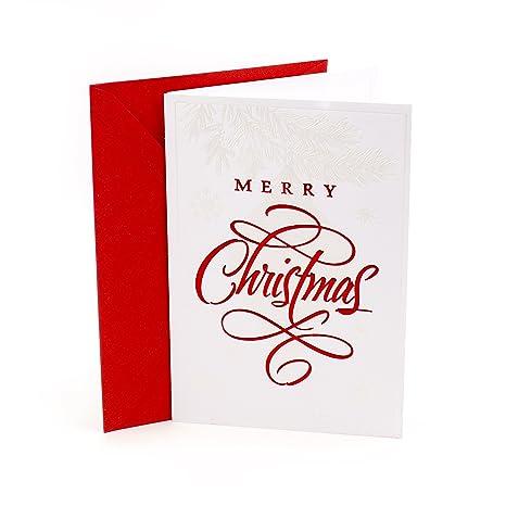 Amazon.com: Hallmark Tarjeta de Navidad, Ornamento de lujo ...