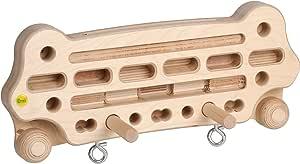 Erzi Tabla de entrenamiento para dedos de madera, tamaño pequeño, mediano y grande, con asas de madera