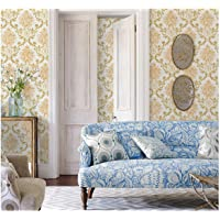 Dwind D1295 Victorian Peel and Stick Damask Wallpaper Self Adhesive Contact Paper for Home Living Room Bedroom Decoration 17.7inch X 118inch