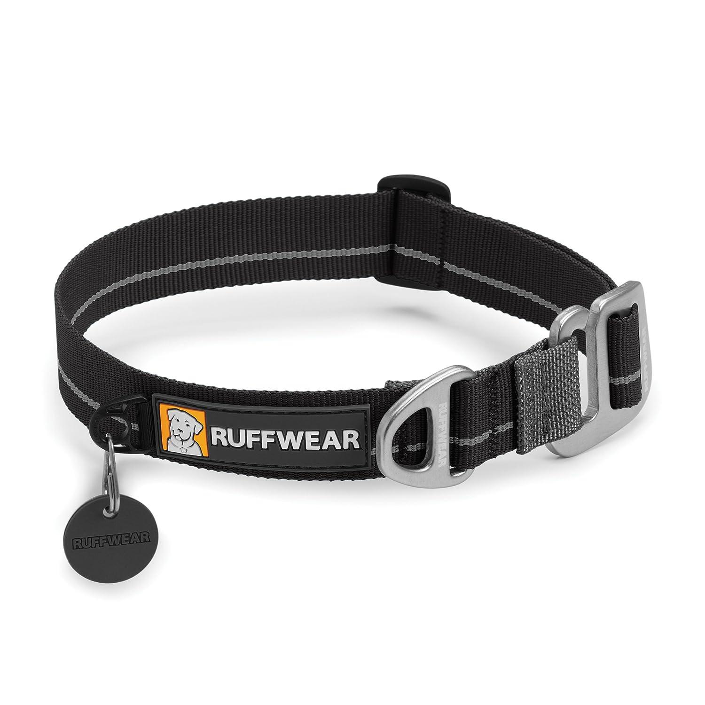 Black Large Black Large Ruffwear Crag Collar for Pets, Large, Obsidian Black